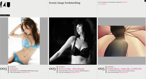 4U - beauty image bookmarking